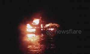 One-year-old girl dead in Filipino ferry fire