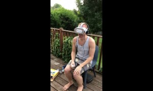 UK man has hilarious reaction to scary virtual reality