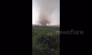 Tornado rips through Chinese village injuring nine people
