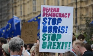 Hundreds march to Downing Street against Boris Johnson suspending government
