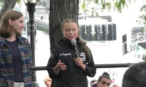 Teen climate activist Greta Thunberg speaks in NYC after 15-day yacht trip from England