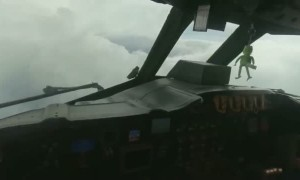 Hurricane hunter pilot flies into the eye of Hurricane Dorian