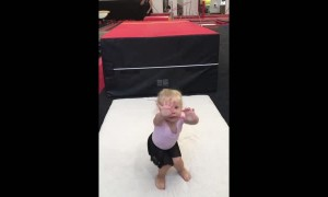 Little Gymnast Sticks the Landing