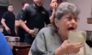 Woman's priceless reaction to restaurant's birthday surprise