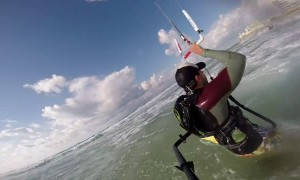 Kite Surfer Rescues Struggling Swimmers