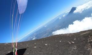 Paragliding Near a Guatemalan Volcano