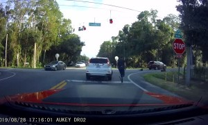 Dashcam Captures Twin Brother's Accident