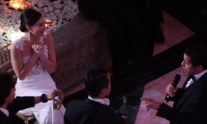 Groom surprises new bride with Broadway-inspired musical