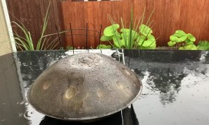 Raindrops on a Handpan