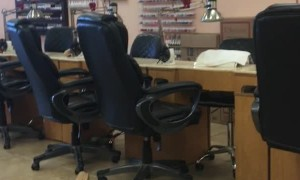 Ticklish Man Laughs Uncontrollably during Pedicure