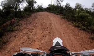 Kangaroo Jumps into Dirt Bike Rider