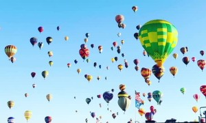 Hot Air Balloons All Across the Horizon
