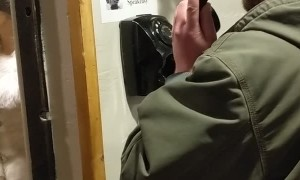 Man Opens Secret Door to Speakeasy
