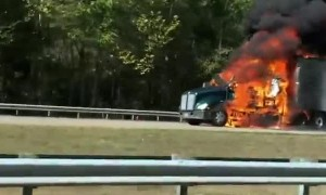 Big Rig Burning