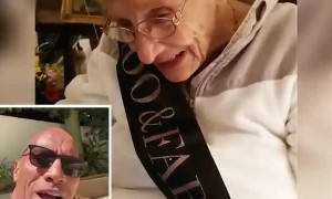 Grandma receives happy 100th birthday message from Dwayne 'The Rock' Johnson