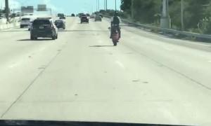 Rider Makes Commute More Interesting