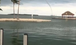 Water Spout Spotted Off Cudjoe Key