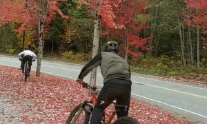 Cyclist Falls for Fall Colors