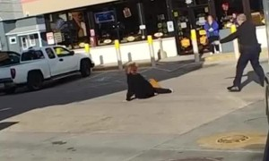 Unstable Woman Gets Tased After Trying To Exorcise A Police Officer