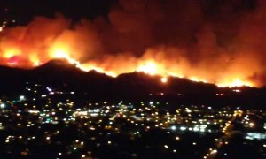 Unbelievable Maria Fire view from the top of Santa Paula