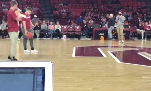 Student wins free tuition for a year by hitting half-court shot