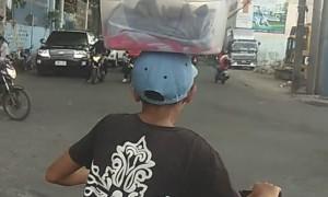 Boy on a Bike has Great Balance