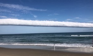Rare Roll Cloud Stretches into Ocean