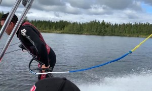 Spectacular Barefoot Water-Skiing