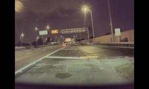 Driver Sideswipes Tesla Model 3