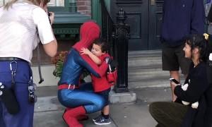 Kid Sends Spidey Mixed Signals