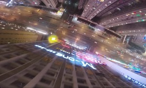 Crazy BASE Jump Off Skyscraper in Rain