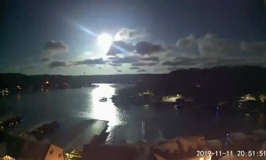 Meteor Shooting Across Sky Above Lake of the Ozarks