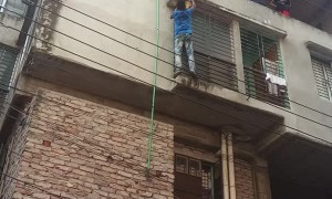 Kitty Rescued from Precarious Position