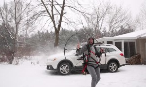 Paramotor Snow Removal