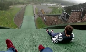 Downhill on a Plastic Disk