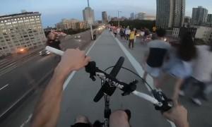 On the Brooklyn Bridge Bike Lane