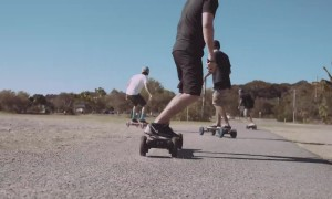 Epic offroad electric skating in Australia