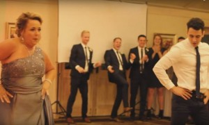 Mother and son totally win over internet with this wedding dance