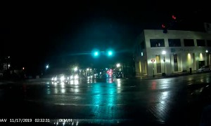18-Wheeler and Sedan Run Red Light