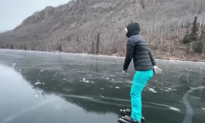 Skating Along Freshly Frozen Ice