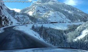 Stunning Snow Covered Mountain Pass