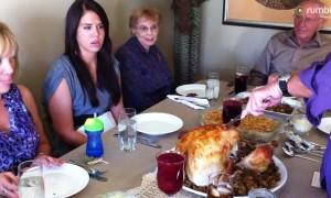 Hilarious 'pregnant turkey' Thanksgiving prank