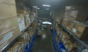 Intense Drone Chase in Warehouse