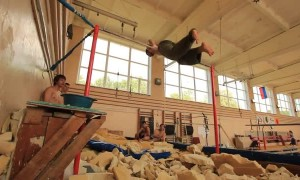 Hard Fail During Double Flip on the Horizontal Bar