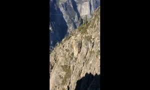 1000 Foot Rope Swing Jump in Yosemite