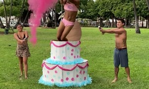 Gender Reveal Cake Surprise