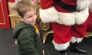 Boy Leaves Santa Out of Breath