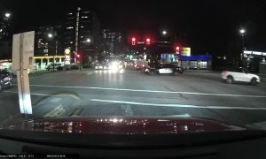 Red Light Runner Gets Instant Karma