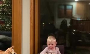 Cute Fella Sings Festive Tune