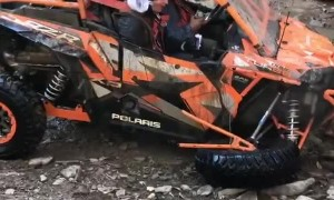 ATV Suspension Smashed After Flying Off Waterfall